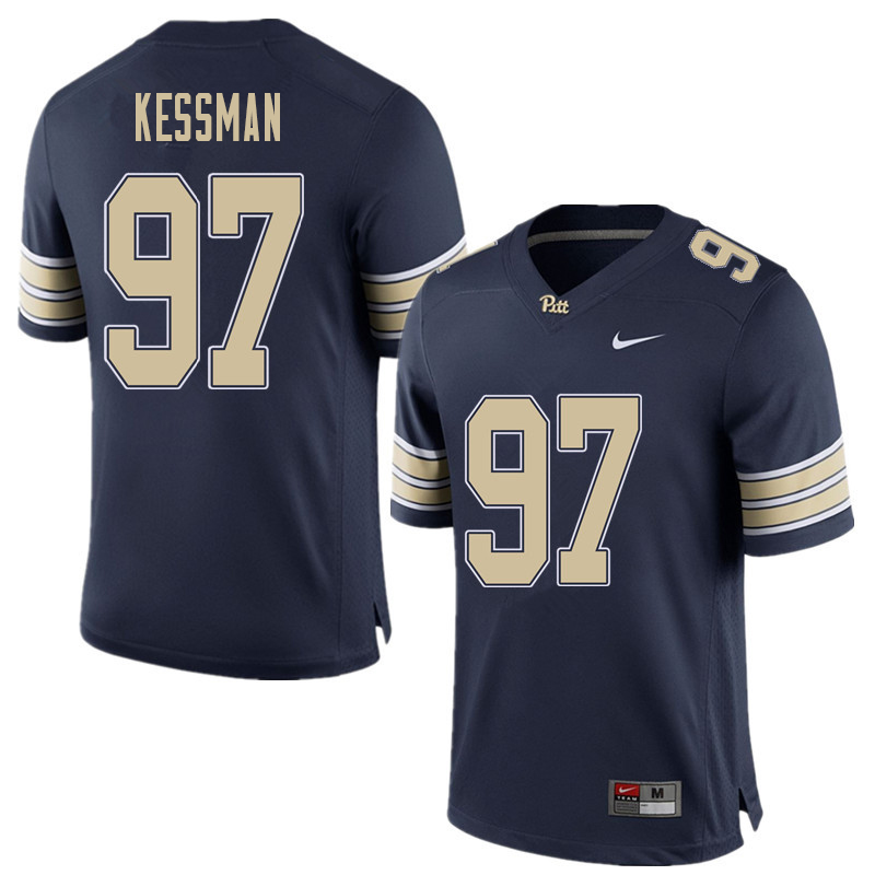 Men #97 Alex Kessman Pittsburgh Panthers College Football Jerseys Sale-Home Blue