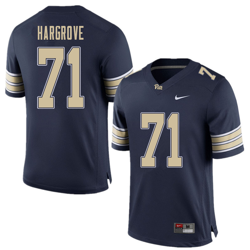 Men #71 Bryce Hargrove Pittsburgh Panthers College Football Jerseys Sale-Home Blue