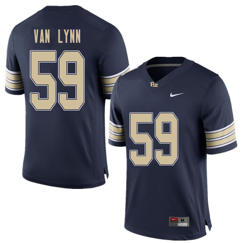 Men #59 Carson Van Lynn Pittsburgh Panthers College Football Jerseys Sale-Home Blue