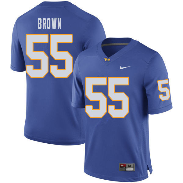 Men #55 Chase Brown Pittsburgh Panthers College Football Jerseys Sale-Royal