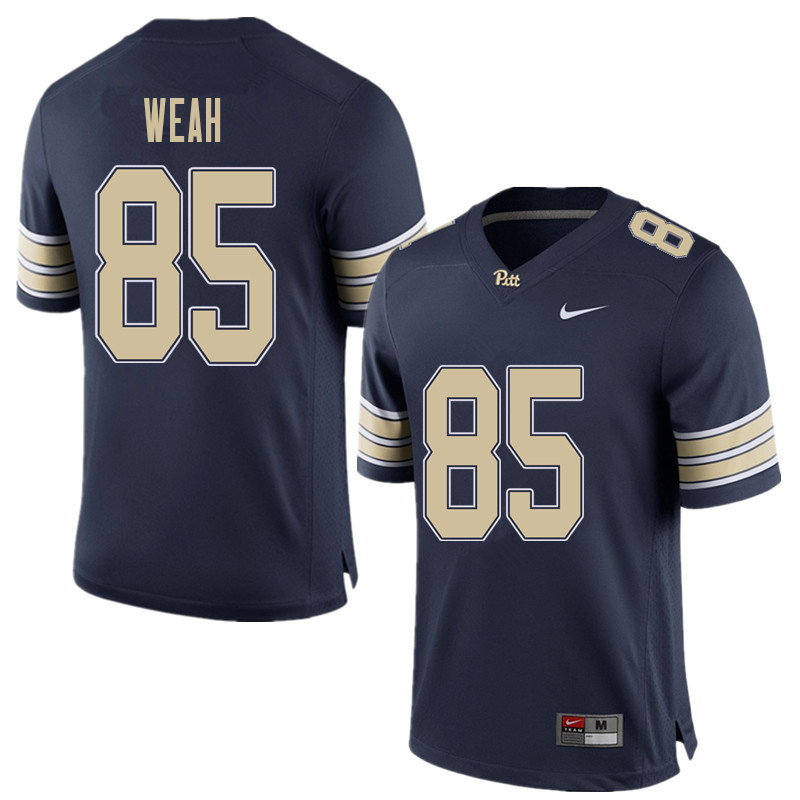 Men #85 Jester Weah Pittsburgh Panthers College Football Jerseys Sale-Home Blue