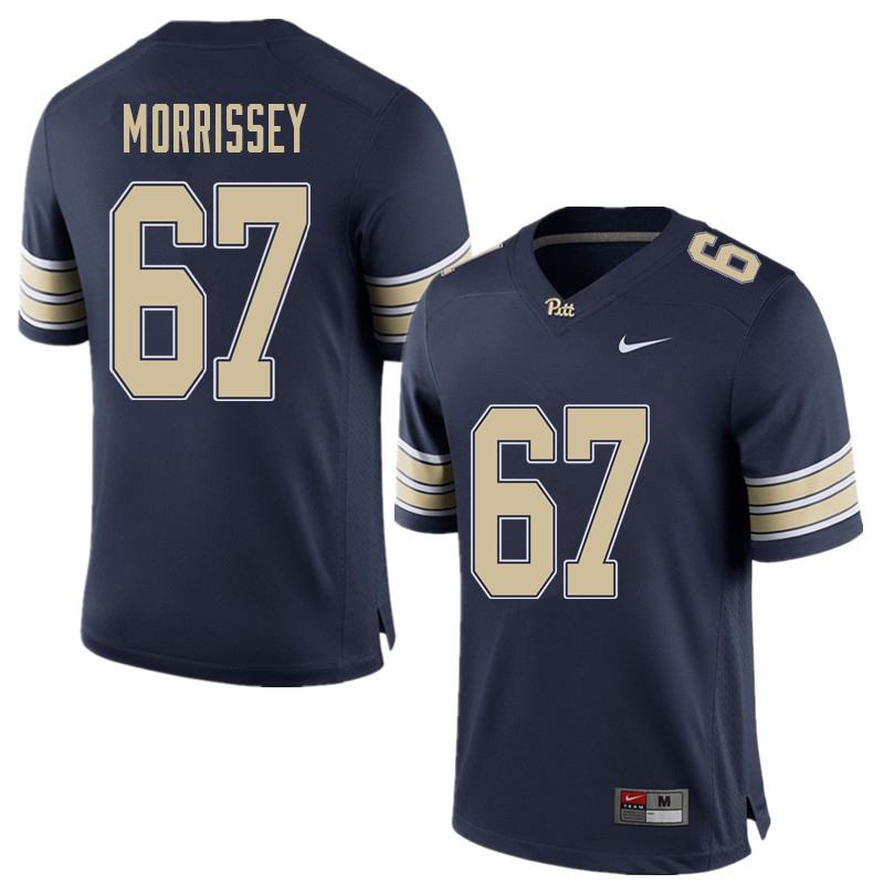 Men #67 Jimmy Morrissey Pittsburgh Panthers College Football Jerseys Sale-Home Blue