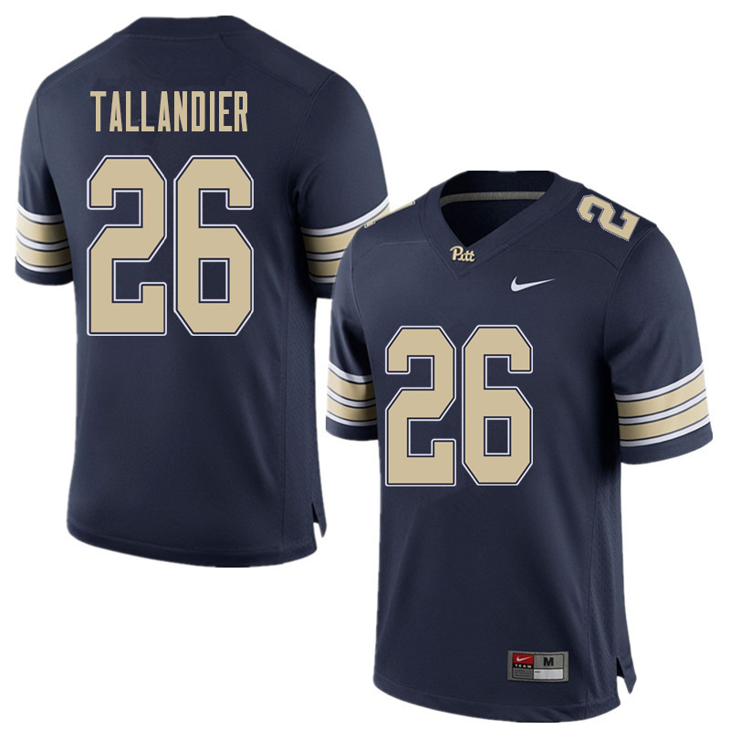 Men #26 Judson Tallandier Pittsburgh Panthers College Football Jerseys Sale-Home Blue