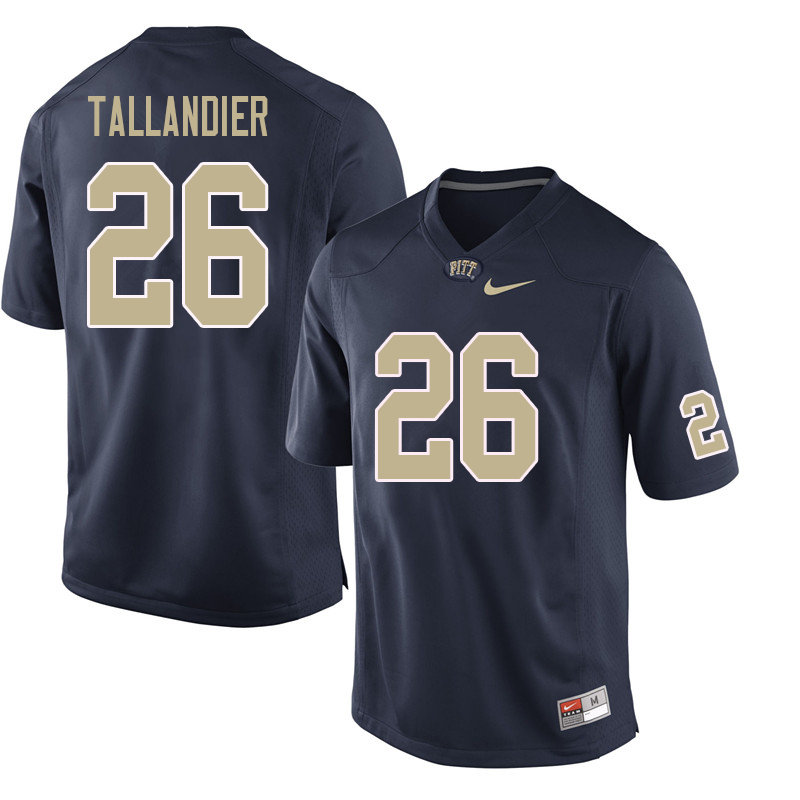 Men #26 Judson Tallandier Pittsburgh Panthers College Football Jerseys Sale-Navy
