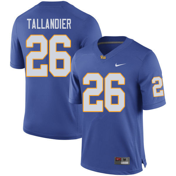 Men #26 Judson Tallandier Pittsburgh Panthers College Football Jerseys Sale-Royal