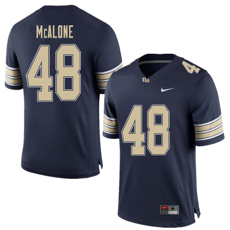 Men #48 Kellen McAlone Pittsburgh Panthers College Football Jerseys Sale-Home Blue