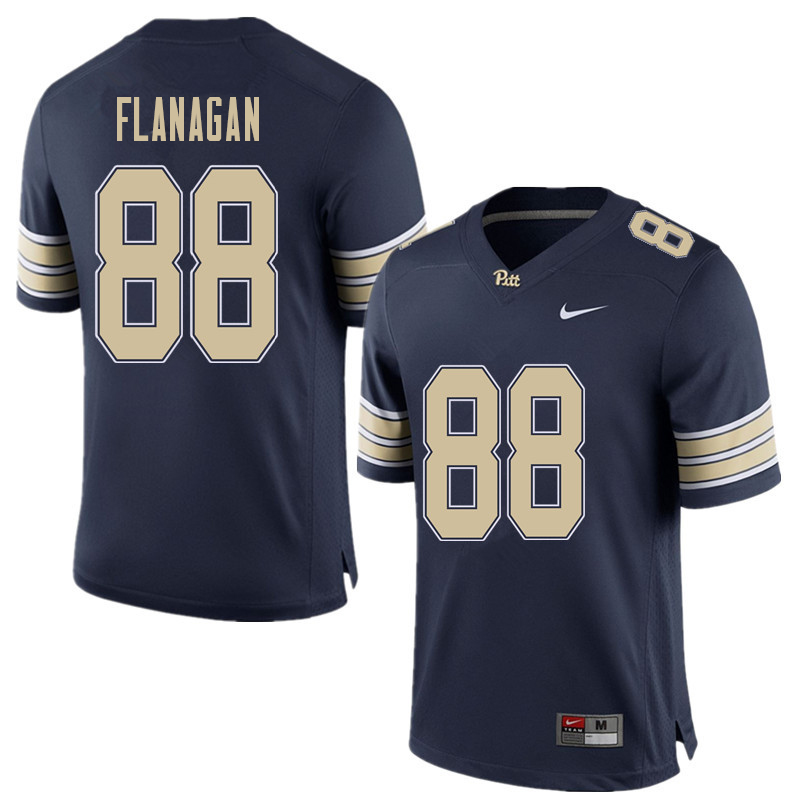 Men #88 Matt Flanagan Pittsburgh Panthers College Football Jerseys Sale-Home Blue