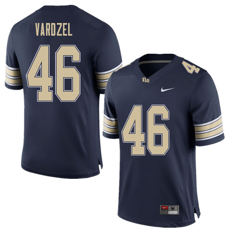 Men #46 Michael Vardzel Pittsburgh Panthers College Football Jerseys Sale-Home Blue