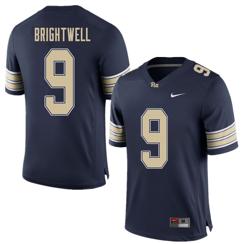 Men #9 Saleem Brightwell Pittsburgh Panthers College Football Jerseys Sale-Home Blue
