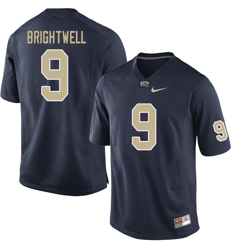 Men #9 Saleem Brightwell Pittsburgh Panthers College Football Jerseys Sale-Navy