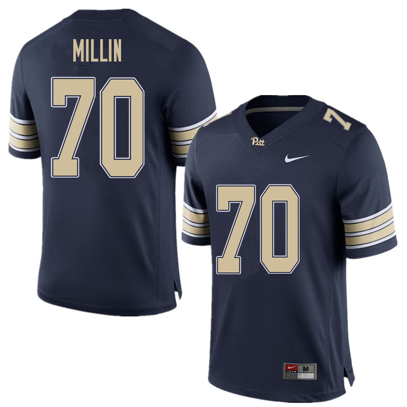 Men #70 Stefano Millin Pittsburgh Panthers College Football Jerseys Sale-Home Blue