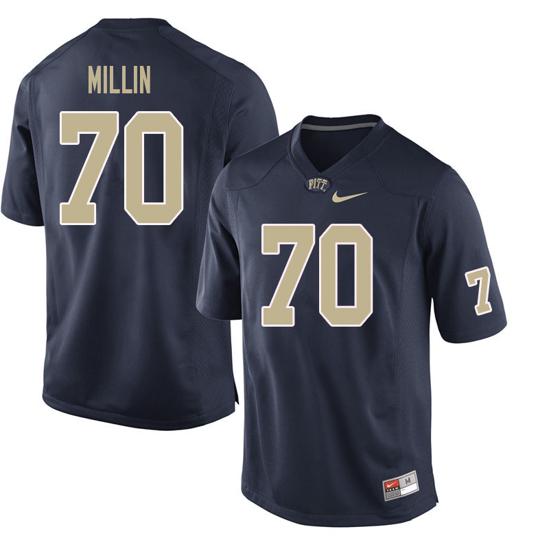 Men #70 Stefano Millin Pittsburgh Panthers College Football Jerseys Sale-Navy