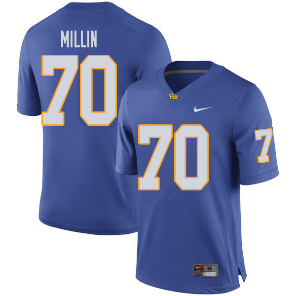 Men #70 Stefano Millin Pittsburgh Panthers College Football Jerseys Sale-Royal