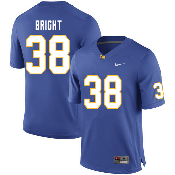 Men #38 Cam Bright Pitt Panthers College Football Jerseys Sale-Royal