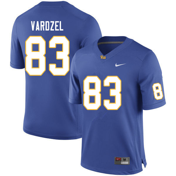 Men #83 John Vardzel Pitt Panthers College Football Jerseys Sale-Royal