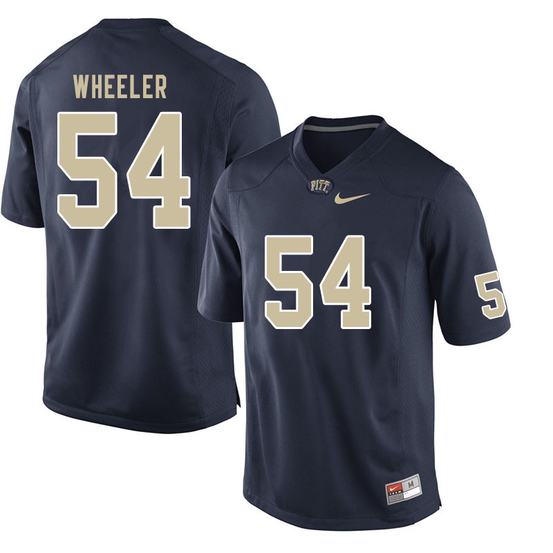 Men #54 Rashad Wheeler Pitt Panthers College Football Jerseys Sale-Navy