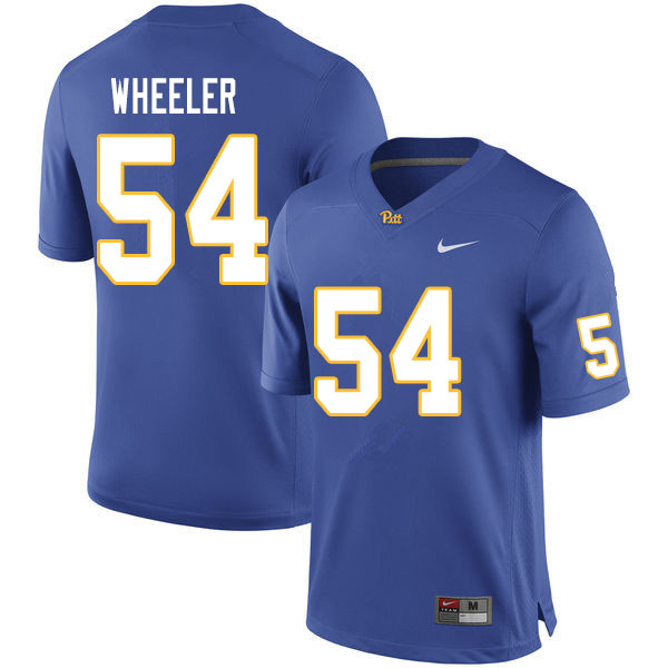 Men #54 Rashad Wheeler Pitt Panthers College Football Jerseys Sale-Royal