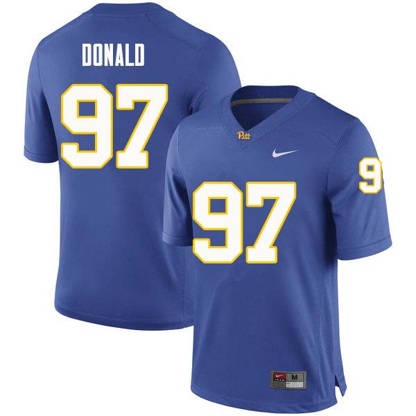 Men #97 Aaron Donald Pittsburgh Panthers College Football Jerseys Sale-Royal