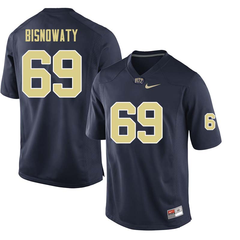 Men #69 Adam Bisnowaty Pittsburgh Panthers College Football Jerseys Sale-Navy