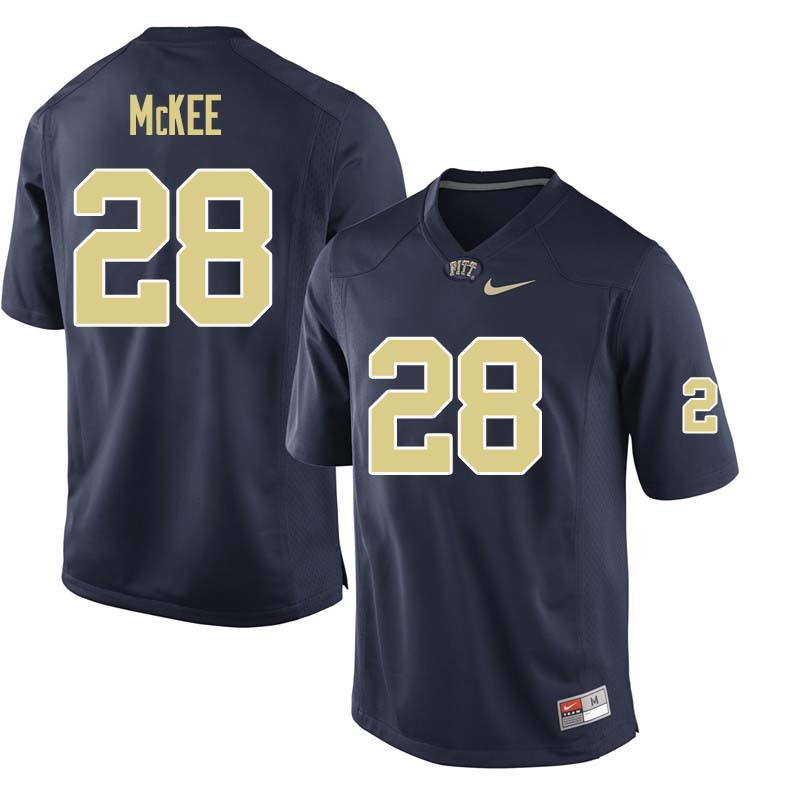 Men #28 Anthony McKee Pittsburgh Panthers College Football Jerseys Sale-Navy