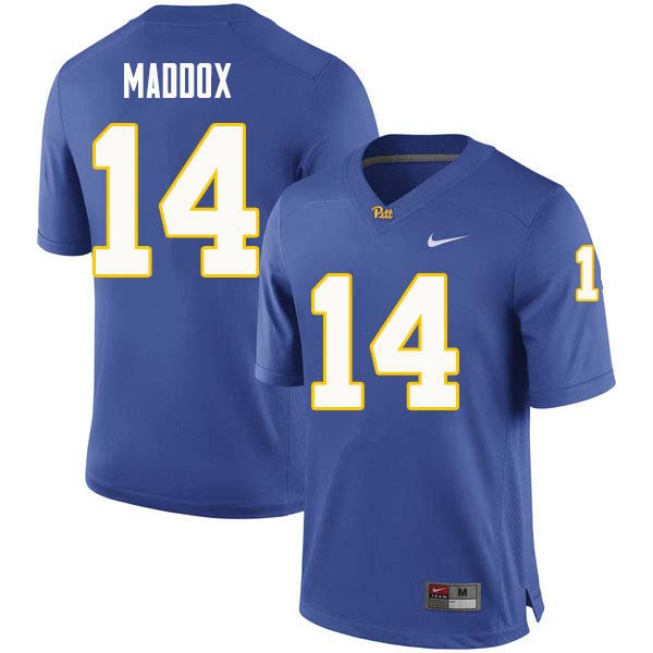 Men #14 Avonte Maddox Pittsburgh Panthers College Football Jerseys Sale-Royal