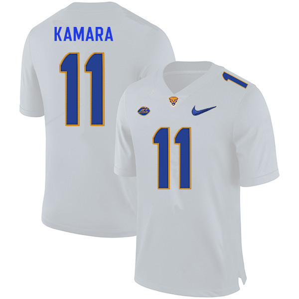 Men #11 Bangally Kamara Pitt Panthers College Football Jerseys Sale-White