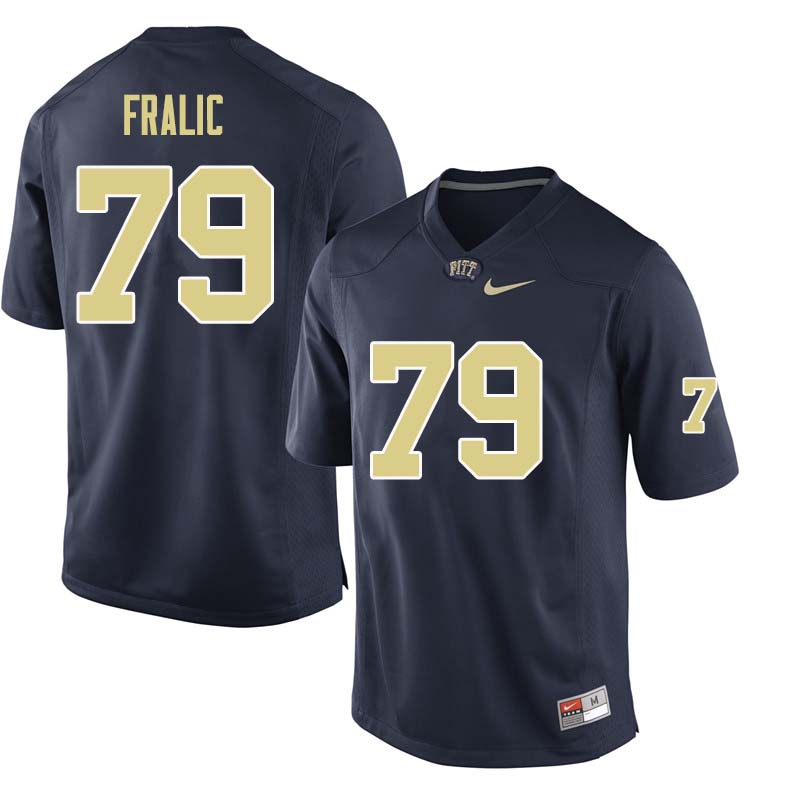 Men #79 Bill Fralic Pittsburgh Panthers College Football Jerseys Sale-Navy