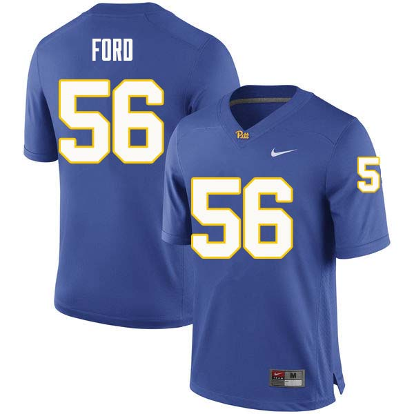 Men #56 Brandon Ford Pittsburgh Panthers College Football Jerseys Sale-Royal