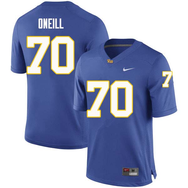 Men #70 Brian ONeill Pittsburgh Panthers College Football Jerseys Sale-Royal