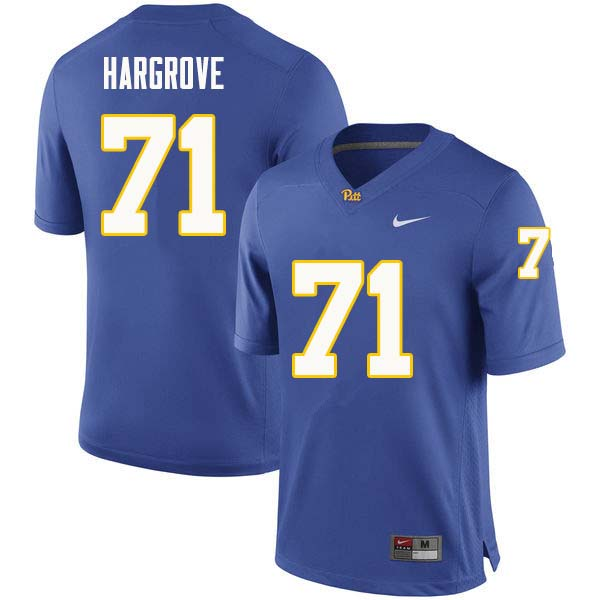 Men #71 Bryce Hargrove Pittsburgh Panthers College Football Jerseys Sale-Royal