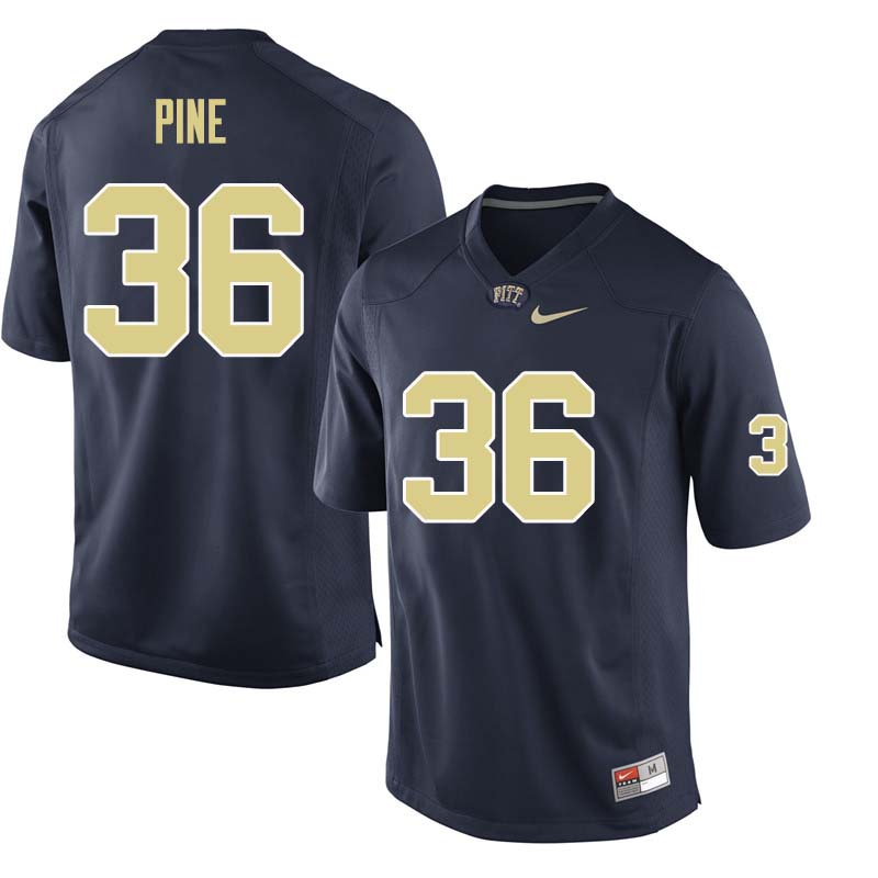 Men #36 Chase Pine Pittsburgh Panthers College Football Jerseys Sale-Navy