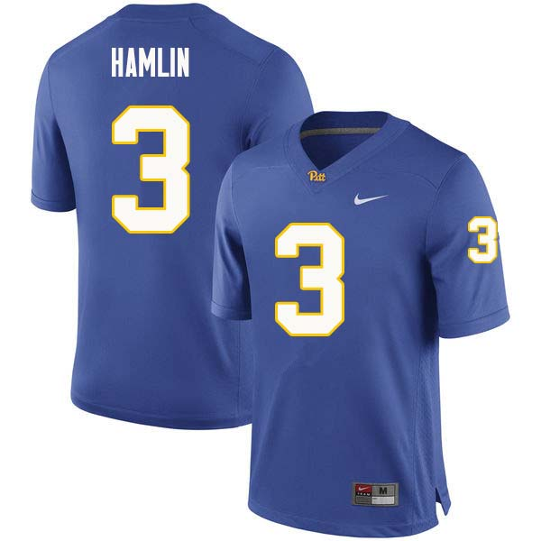 Men #3 Damar Hamlin Pittsburgh Panthers College Football Jerseys Sale-Royal