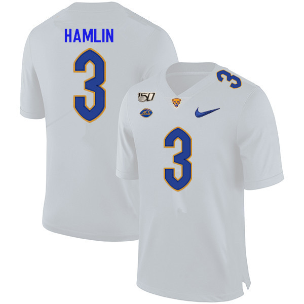 2019 Men #3 Damar Hamlin Pitt Panthers College Football Jerseys Sale-White