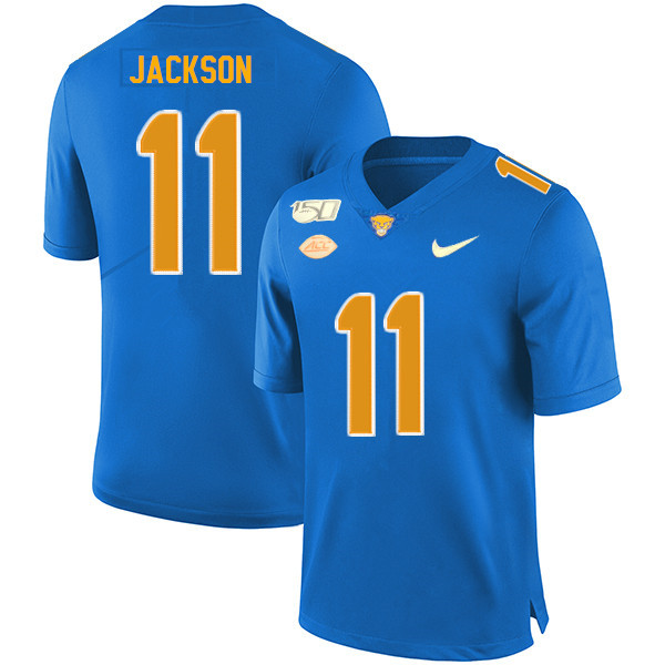 2019 Men #11 Dane Jackson Pitt Panthers College Football Jerseys Sale-Royal