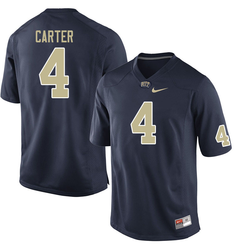 Men #4 Daniel Carter Pitt Panthers College Football Jerseys Sale-Navy