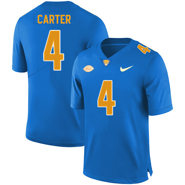 Men #4 Daniel Carter Pitt Panthers College Football Jerseys Sale-New Royal