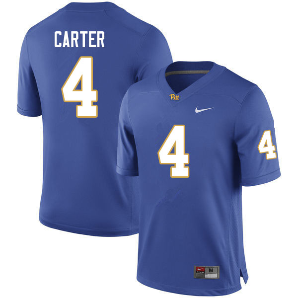 Men #4 Daniel Carter Pitt Panthers College Football Jerseys Sale-Royal