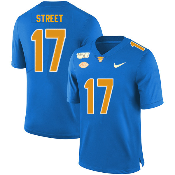2019 Men #17 Darian Street Pitt Panthers College Football Jerseys Sale-Royal