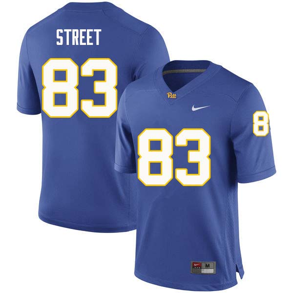 Men #83 Darian Street Pittsburgh Panthers College Football Jerseys Sale-Royal
