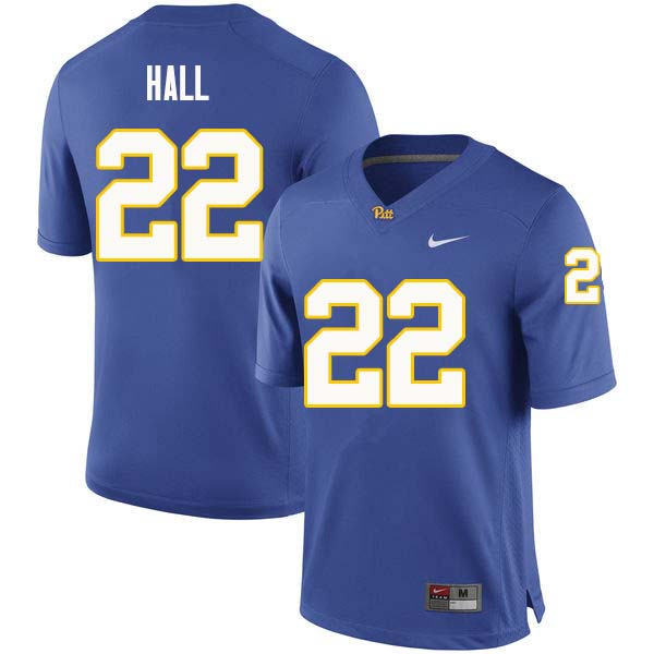 Men #22 Darrin Hall Pittsburgh Panthers College Football Jerseys Sale-Royal