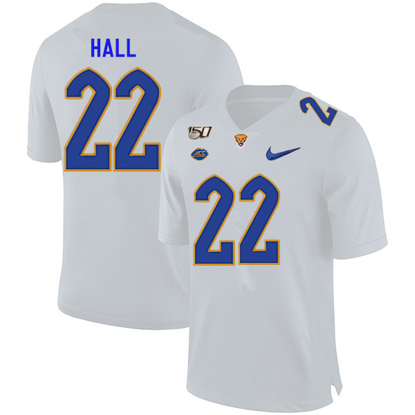 2019 Men #22 Darrin Hall Pitt Panthers College Football Jerseys Sale-White