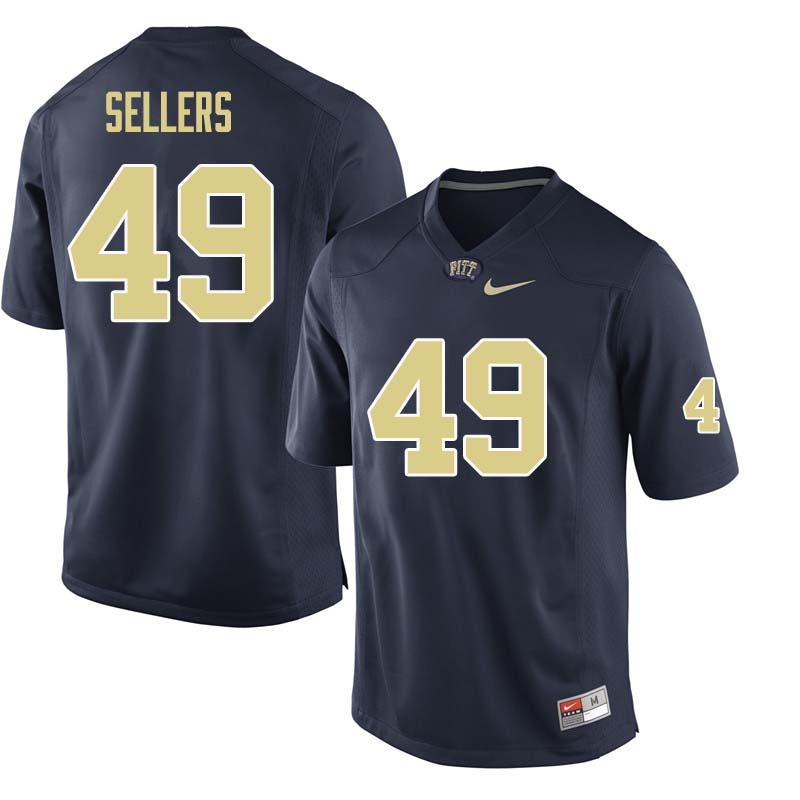 Men #49 Erik Sellers Pittsburgh Panthers College Football Jerseys Sale-Navy