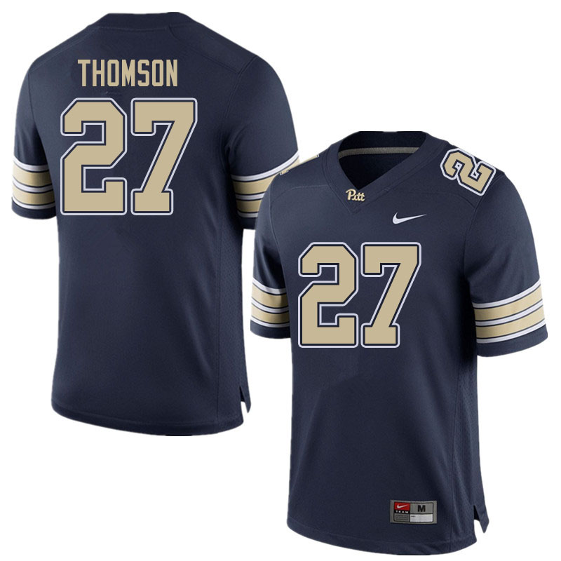 Men #27 Gavin Thomson Pitt Panthers College Football Jerseys Sale-Home Navy