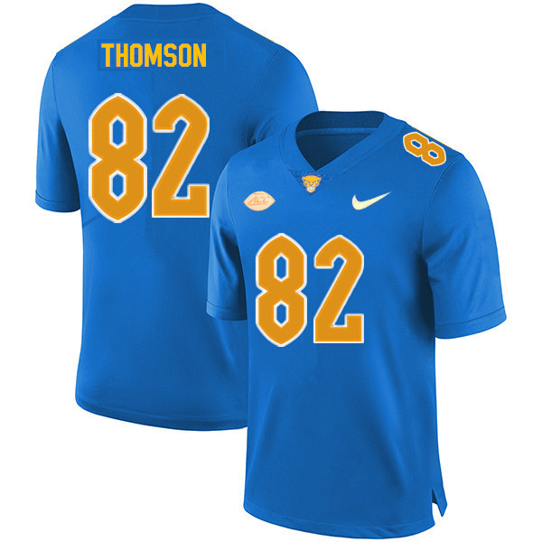 Men #82 Gavin Thomson Pitt Panthers College Football Jerseys Sale-Royal