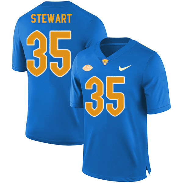 Men #35 Isaiah Stewart Pitt Panthers College Football Jerseys Sale-New Royal