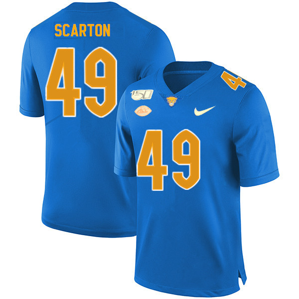 2019 Men #49 Jake Scarton Pitt Panthers College Football Jerseys Sale-Royal