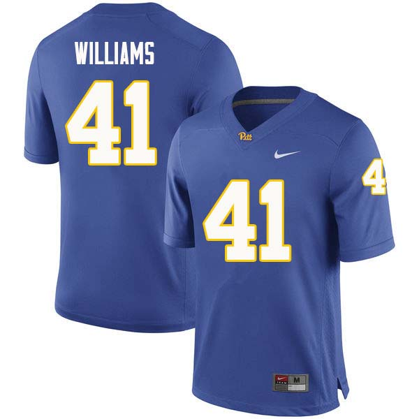 Men #41 Jalen Williams Pittsburgh Panthers College Football Jerseys Sale-Royal