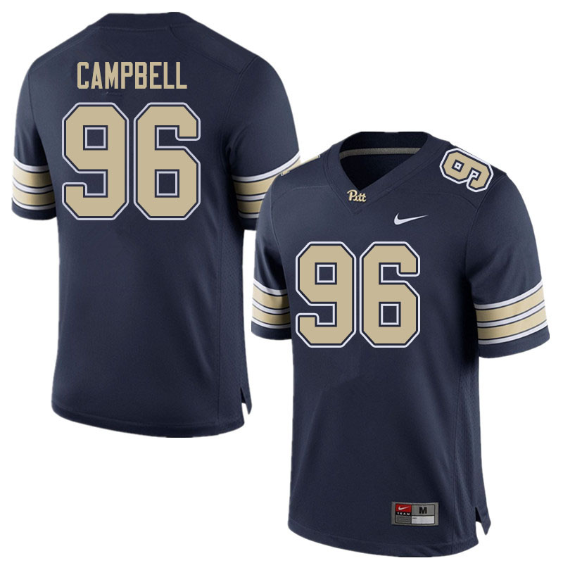 Men #96 Jared Campbell Pitt Panthers College Football Jerseys Sale-Home Navy