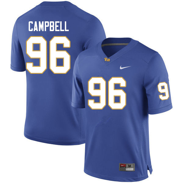 Men #96 Jared Campbell Pitt Panthers College Football Jerseys Sale-Royal