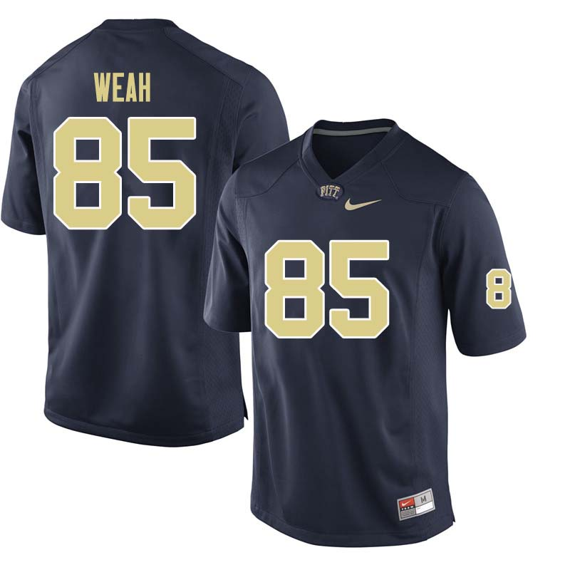 Men #85 Jester Weah Pittsburgh Panthers College Football Jerseys Sale-Navy
